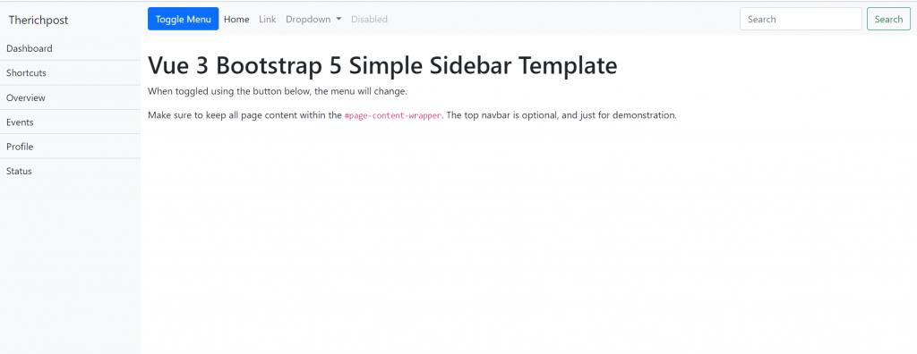 Vuejs-Bootstrap-5-Free-Template