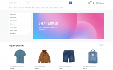 Laravel 8 Bootstrap 5 Ecommerce Template Free Download