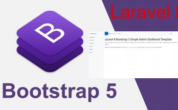 Laravel 8 Bootstrap 5 Admin Dashboard Template For Beginners