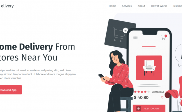 Angular 12 Best Food Delivery App Landing Page Template Free 2021