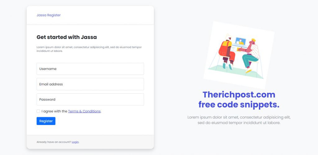 Reactjs Bootstrap 5 User Register Form