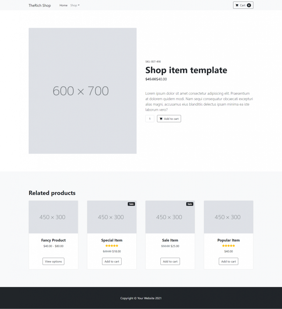 Vue 3 Bootstrap 5 Ecommerce Testing Project - Part 2 Single Item Page