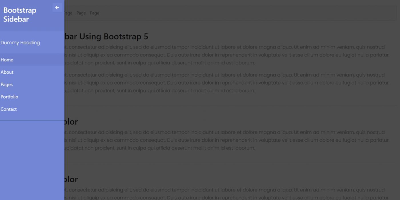Vue 3 Bootstrap 5 Popup Sidebar Template
