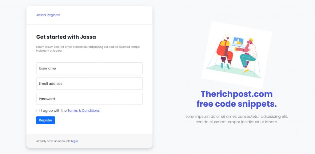 Vue 3 Bootstrap 5 User Register Form
