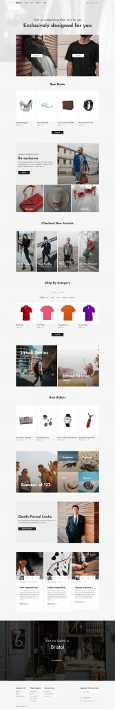 Vue 3 Single Page Ecommerce Template Free