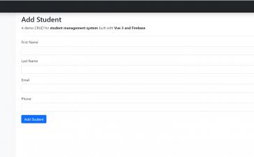 Vuejs - Vue 3 Firebase Crud Tutorial Working Demo