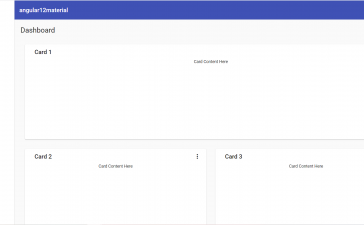Angular 12 Admin Dashboard Template Using Angular Material