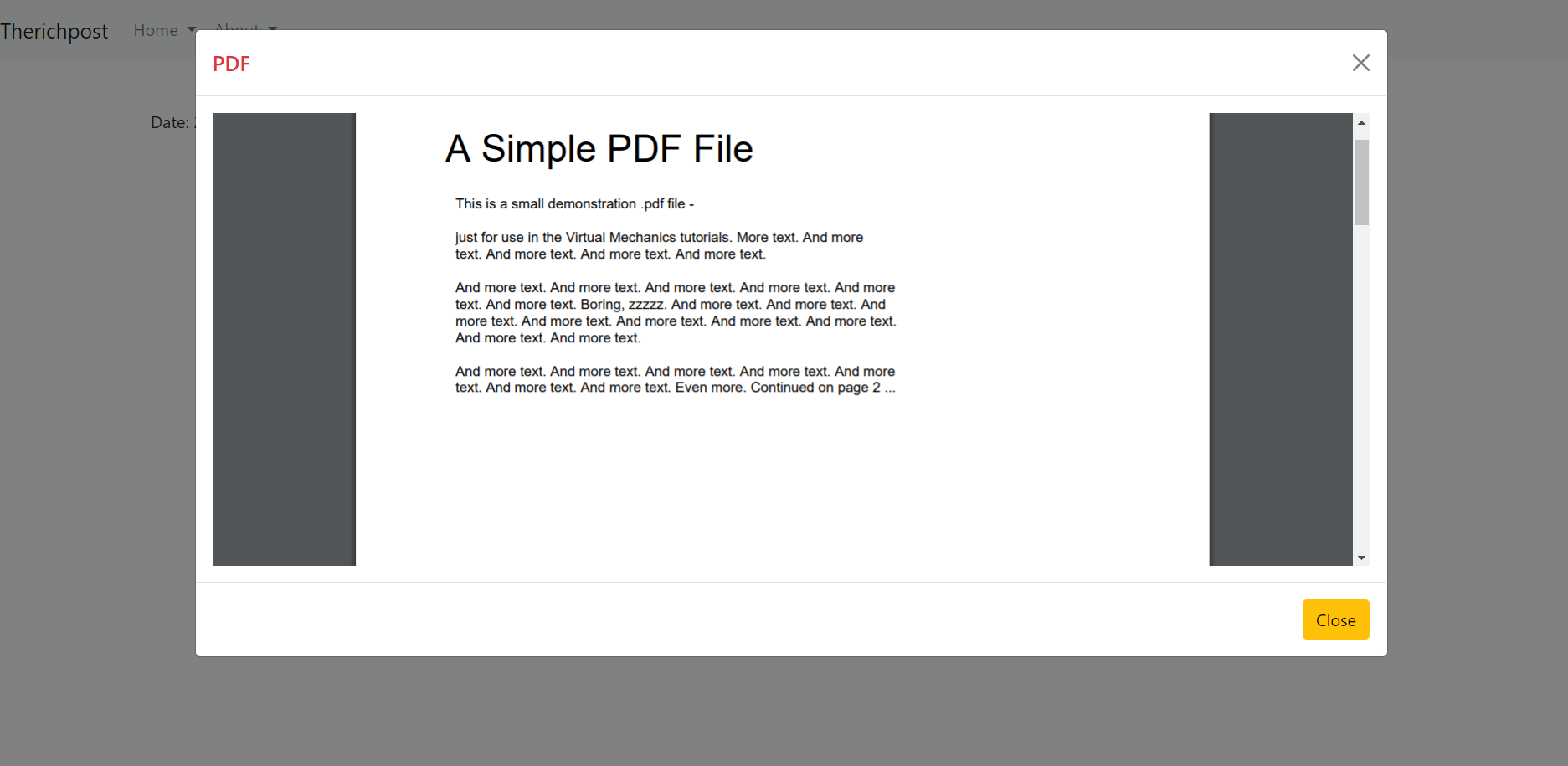 How to open pdf file inside bootstrap 5 modal popup in angular 12 application?