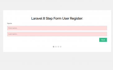 Laravel 8 Multi Step Form Working Example