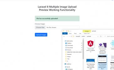 Laravel 8 Multiple Image Upload Preview Save inside Folder Working Functionality