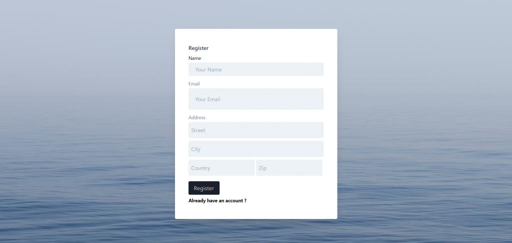 Reactjs Register Page
