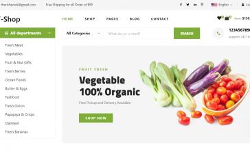 Reactjs V-Shop Free Ecommerce Template Download