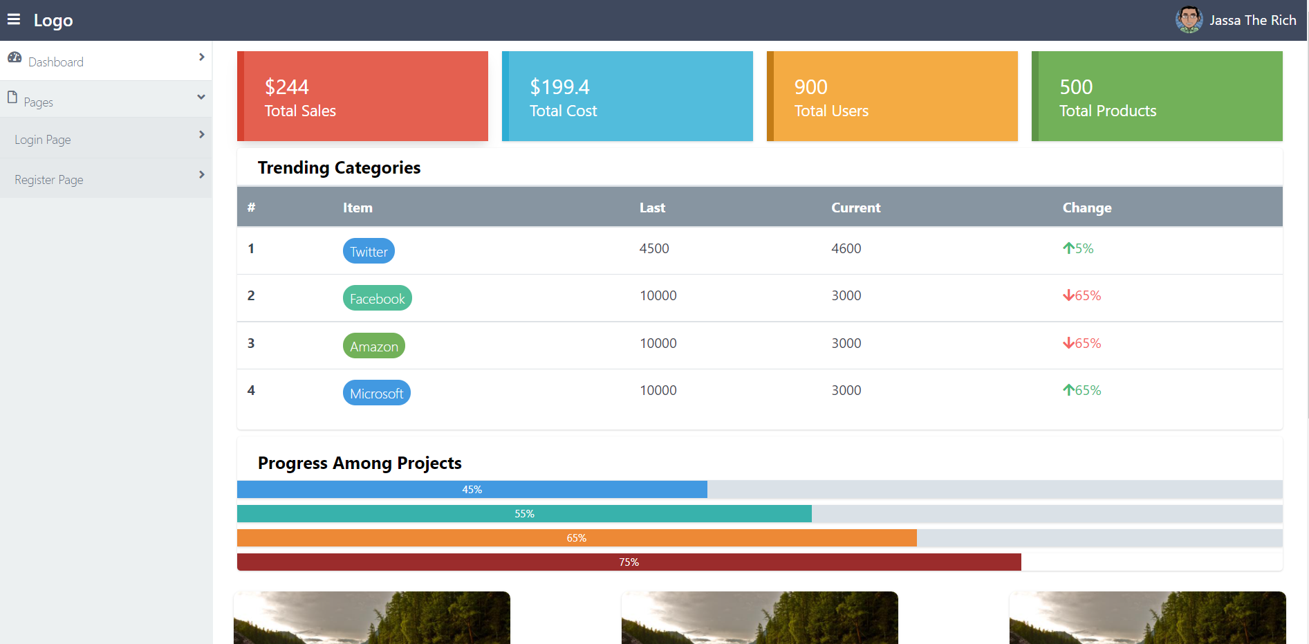 Vue 3 Free Admin Dashboard Using Tailwind CSS