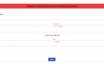 Angular 12 Material Design form Working Example