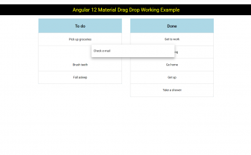 Angular 12 Material Drag Drop Working Example with Code Snippet