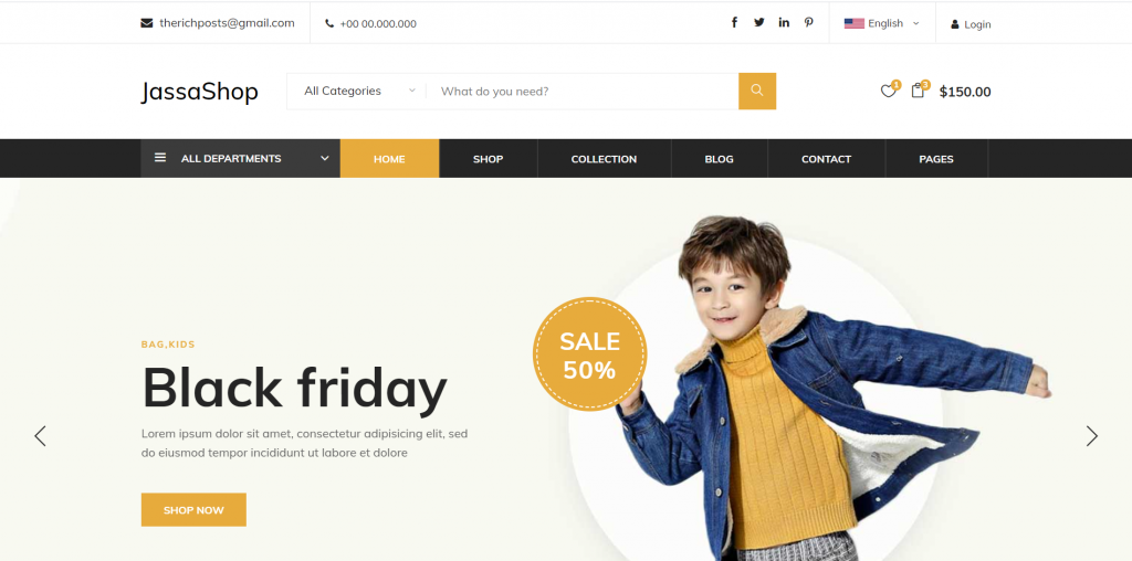 Asp.NET Core 5 Responsive Free Ecommerce Template Download