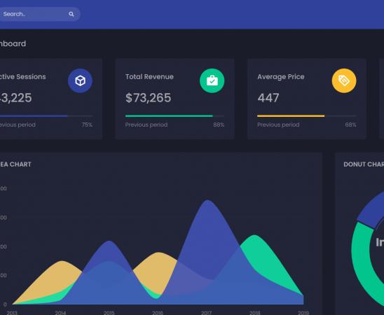 Asp.Net Core 5 Responsive Admin Dashboard Template Free