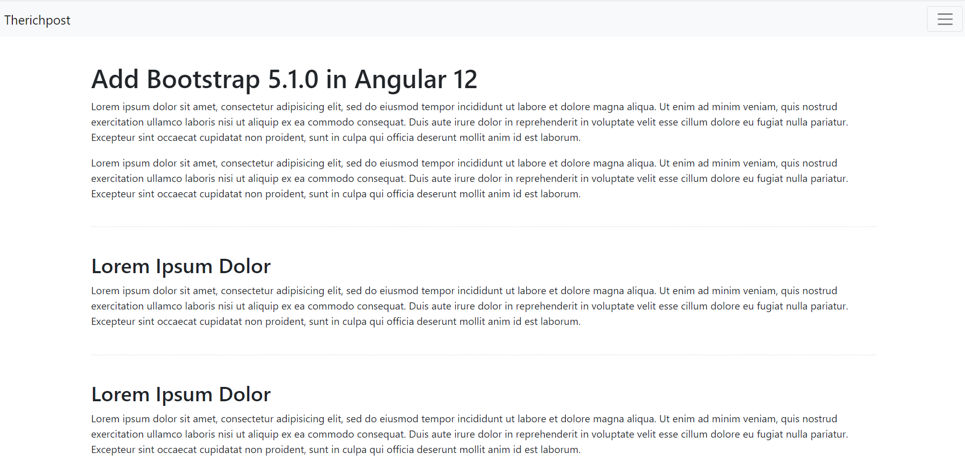 How to add Bootstrap 5.1.0 in Angular 12?
