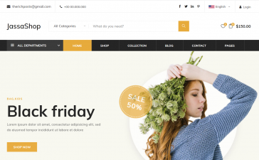 Laravel 8 Responsive Ecommerce Home Page Template Free Download