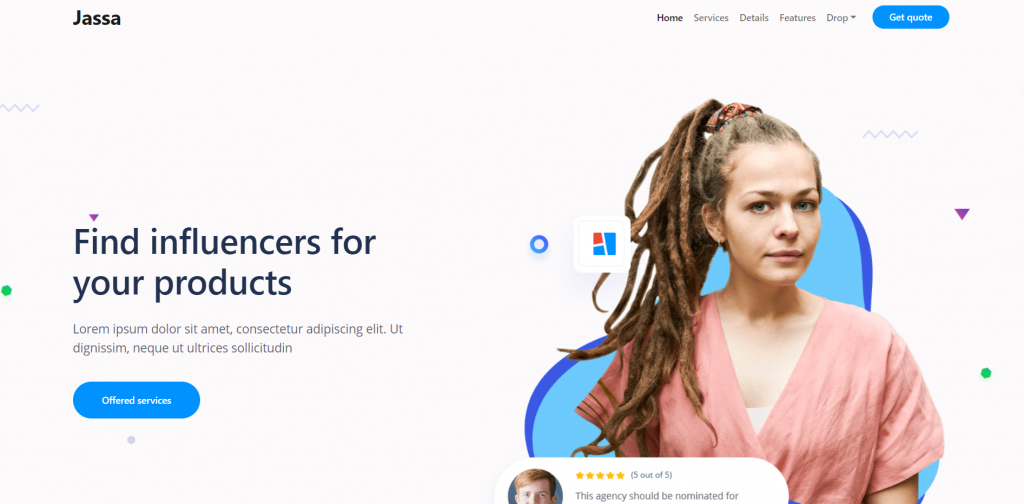React Bootstrap 5 Beautiful Fully Responsive Landing Page Template Free