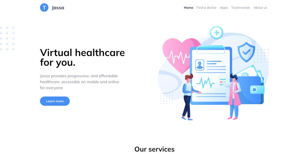 Reactjs 5 Bootstrap 5 Healthcare Template Free
