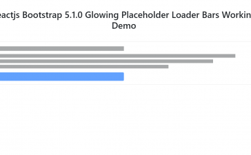 Reactjs Bootstrap 5.1.0 Glowing Placeholder Loader Bars Working Example
