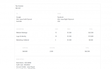 Angular 12 Create Invoice Template and Export to PDF Working Functionality