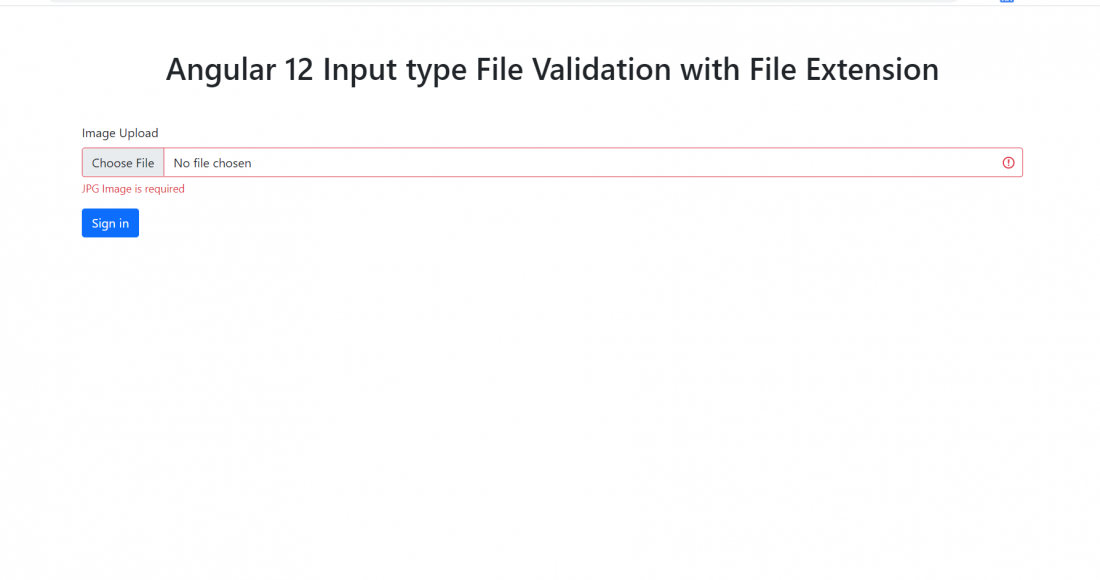Angular 12 Input type File Validation with File Extension Type