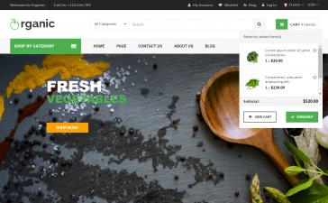 Asp.Net Core 5 Organic Ecommerce Template Free