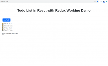 Create Todo List in React with Redux Working Code