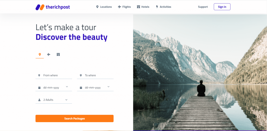 How to make travel website in Vue 3 using Bootstrap 5?