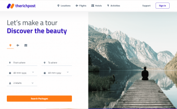 How to make travel website in angular 12?