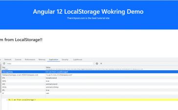 Angular 12 Local Storage Working Demo