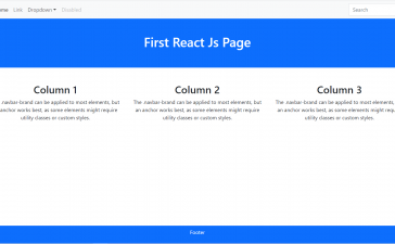 Create Your First ReactJS Application Responsive Page with Bootstrap 5