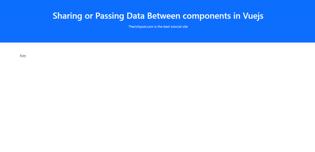Sharing or Passing Data Between components in Vuejs Vue 3
