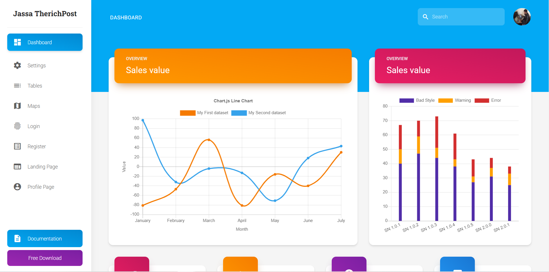 Vue 3 Material Tailwind Admin Dashboard Free